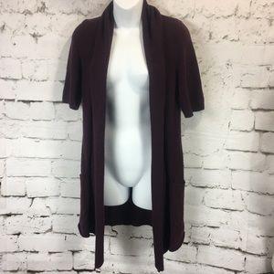 Sparrow Anthropologie Cardigan Wool Short Sleeve